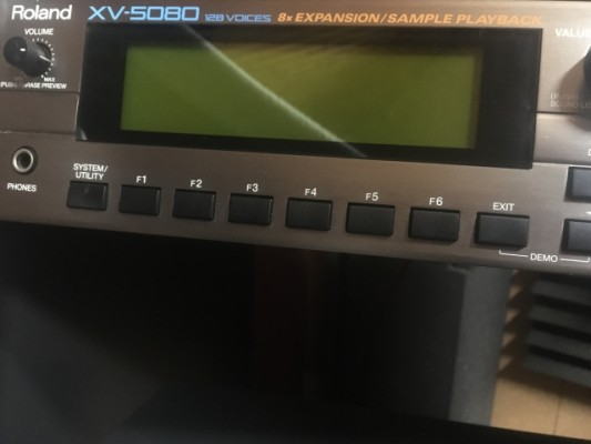 Roland XV-5080 con tarjetas Techno y Session