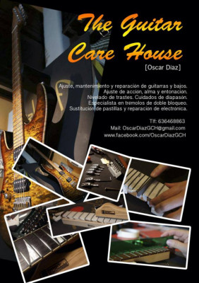 Servicios de reparación, ajuste, mantenimiento y lutheria. Luthier Zaragoza