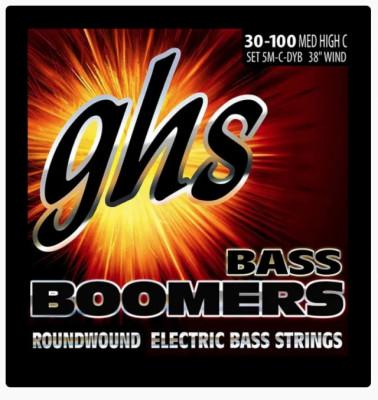 GHS Bass Boomers 3045 5/M C DYB set 5 cuerdas HIGH C Medium