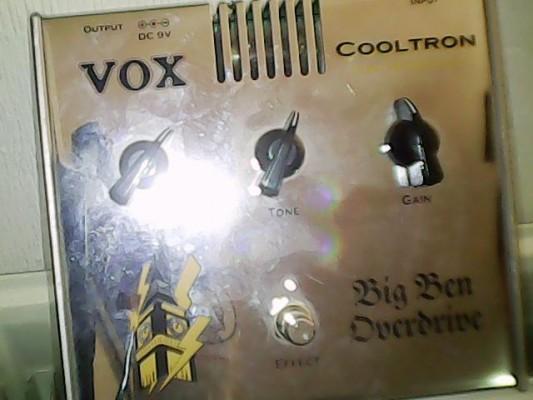 Pedal Vox Big Ben Overdrive.