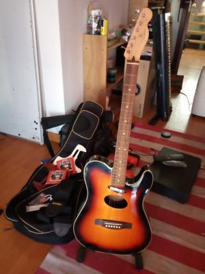 Fender Telecoustic Deluxe Sunburst