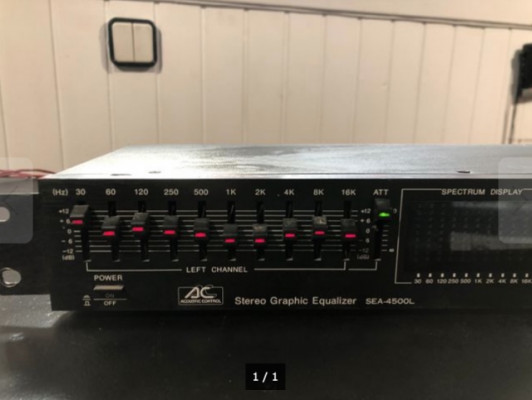 Acoustic Control - Stereo Graphic Equalizer SEA-4500L