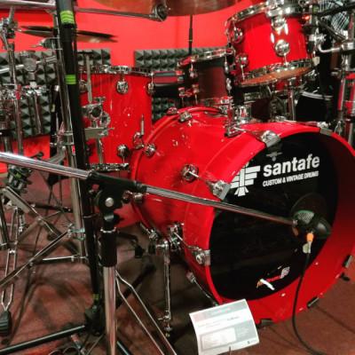 "Batería Santafe Abedul Series Custom Studio ""Red Ferrari"""