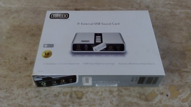 Sweex External 7 USB Sound card