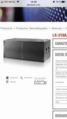 Subwoofer Das Lx-218A