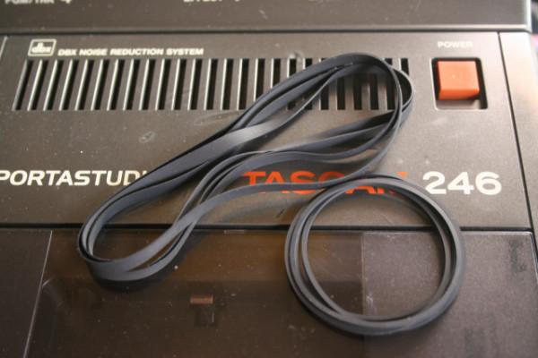 TASCAM 246 Control & Capstan Belt / Pinch Roller / Idler Tyres