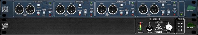 4 PREVIOS MIC/LINE BSS MSR 604 II-602 II+SPLITTER 16 CH