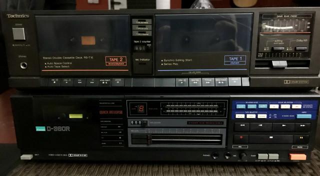 Pletina Cassette Technics & Sansui