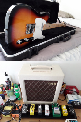 Fender Telecaster + Vox AC4 Tv