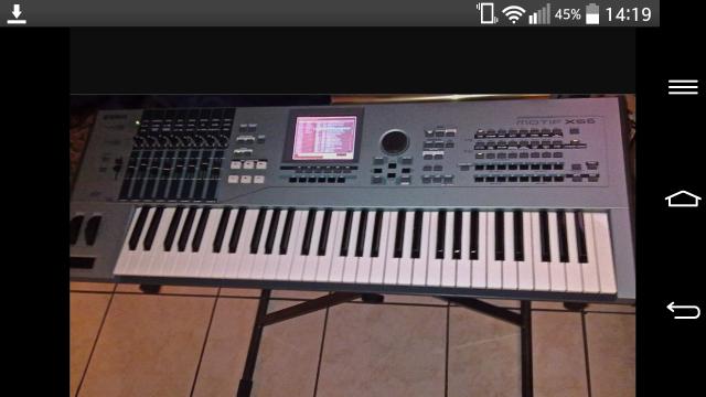Yamaha motif xs6 mas korg Trinity pro