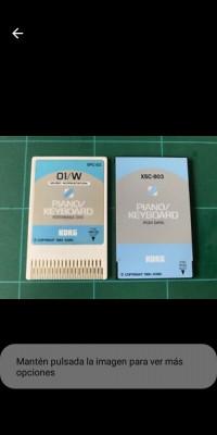 Compro targeta de pianos Korg 01/wPiano Keyboard  XSC-3S