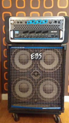 AMPLIFICADOR DE BAJO EBS HD350 + PANTALLA 4X10 PROLINE 2.000+ SKB