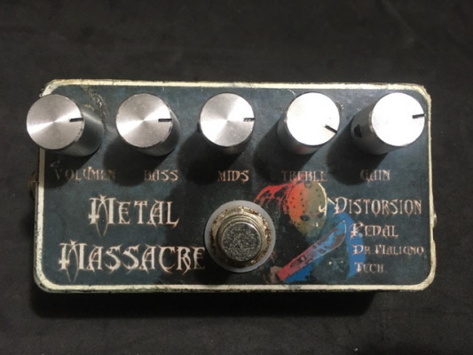 Pedal Distorsion Metal Masacre Dr. Maligno