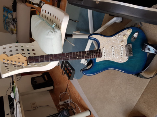 Fender American deluxe stratocaster ash blue