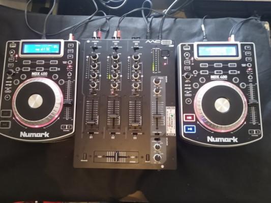 PACK DJ  Numark NDX400 Y MESA AKIYAMA MC-E3