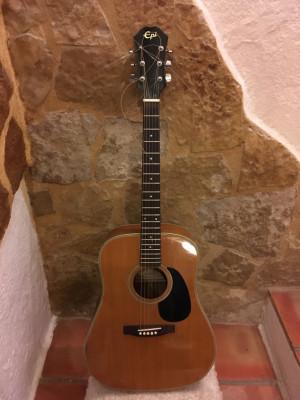 Guitarra acustica Epi d-12 por ajustar cejuela y puente