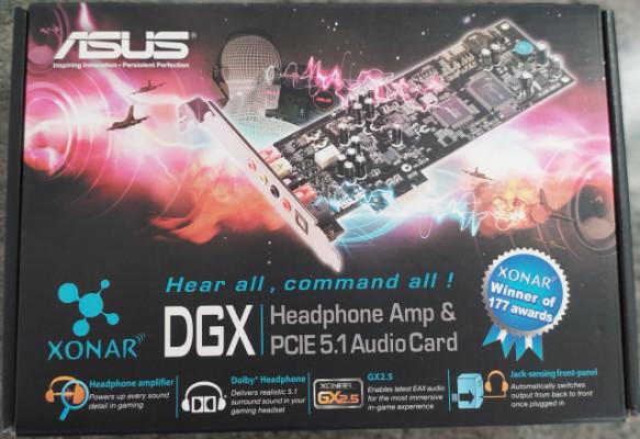 Tarjeta de sonido XONAR DGX PCIe