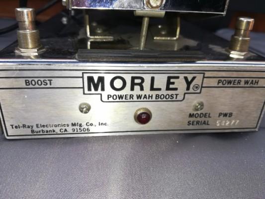 Vintage pedal -Morley wah y booster