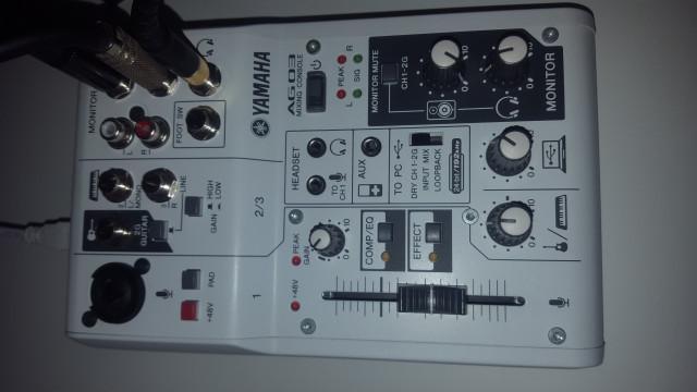 Interfaz de audio Yamaha AG03