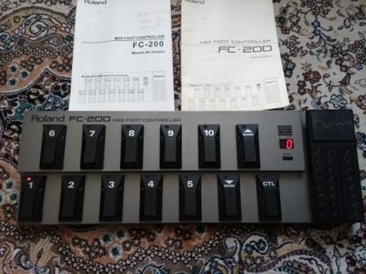 Controladora MIDI Roland FC-200  adaptador BOSS