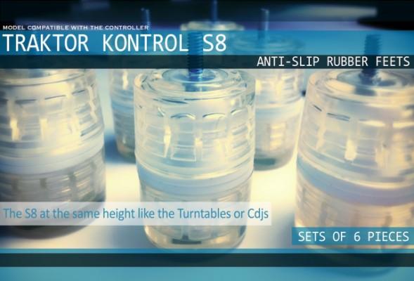 Patas para Traktor Kontrol S8 --- 6 unidades por lote