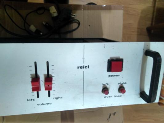 Etapa de potencia estéreo REIEL 50+50 de los 70