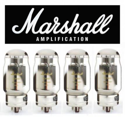 4 Válvulas Marshall KT88 (Sin Usar)