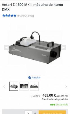 Máquina de humo Antari z1500