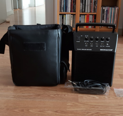 Monacor TXA-480 Wireless amplifier. Micro inalámbrico + ampli