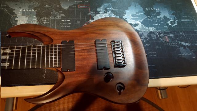 Guitarra Eléctrica Zurdo 8 Cuerdas Ran Crusher