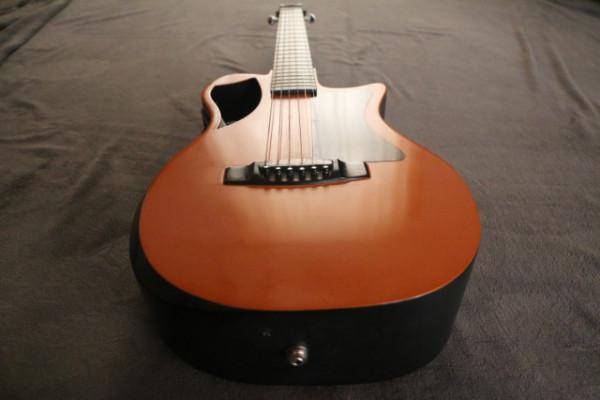 Orange Top Matte Carbon Travel Guitar- OF660O1M Made in USA