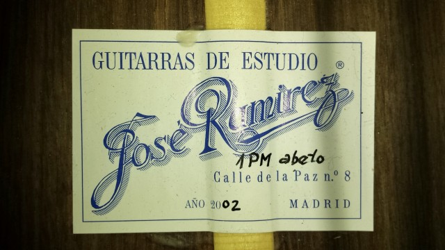 Guitarra clasica JOSE RAMIREZ 1PM