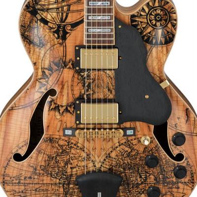 Guitarra Ibanez AF105 SM EE Spalted maple Exotic Explorer Jazz Box