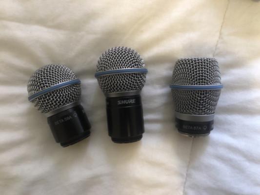 Vendo cápsulas micrófonos inalámbricos SHURE