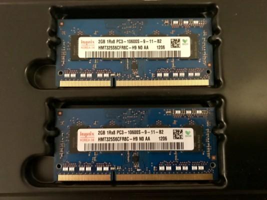 4 GB Memoria Ram original de Macbook Pro late 2011
