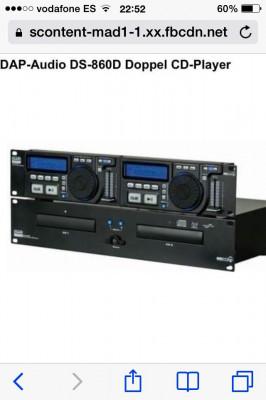 DAP-Audio DS860D Doppel CD-Player