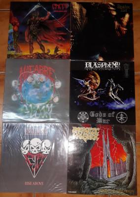 vendo lote vinilos Death Metal, Black Metal