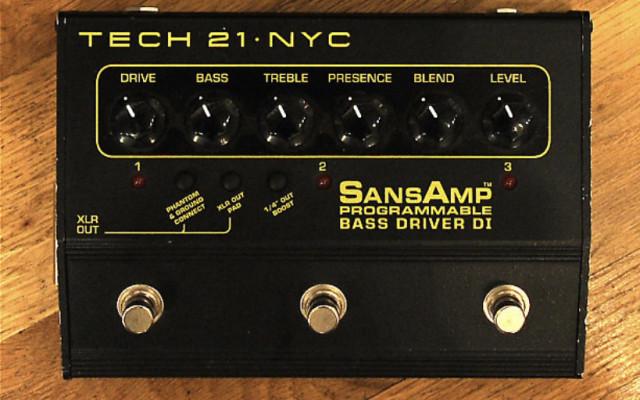 Tech21 sansamp Bass driver programmable