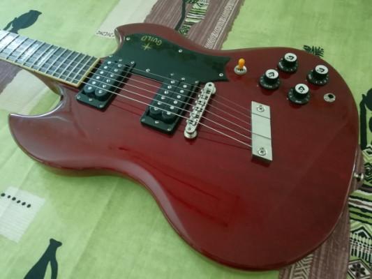 Guild S100 Polara Cherry Red con DiMarzios