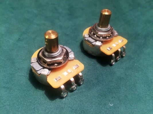 Vendido: Pots Fender CTS A250K vástago sólido (para Telecaster)