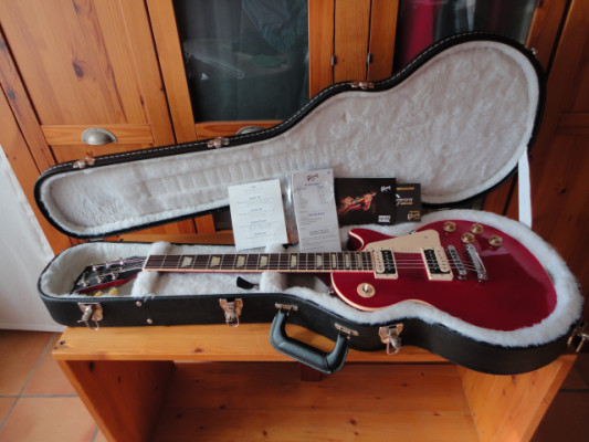 Gibson Les Paul Traditional 1960 Zebra Trans Red
