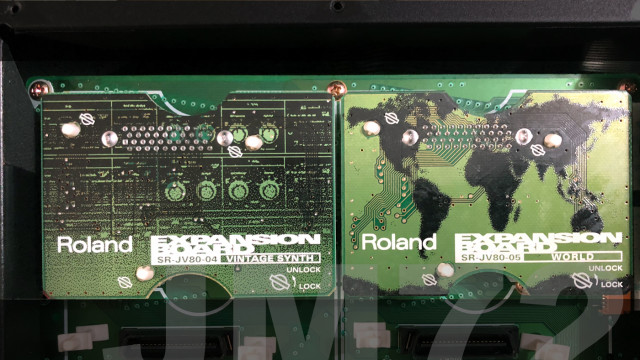 Roland SR-JV80 Tarjetas