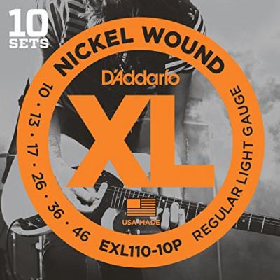 10 Sets cuerdas Daddario EXL 110