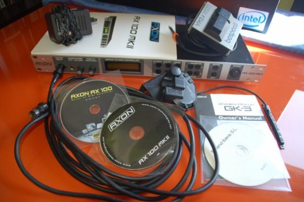 AXON AX100 MKII + Roland GK3 + Cable 5m (Sinte midi guitarra)