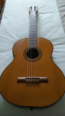 Guitarra española amplificada