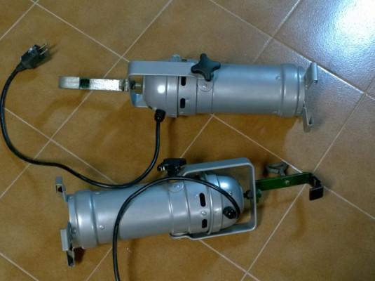 Focos PAR36 (Aircraft landing lights) 250W + soporte para truss