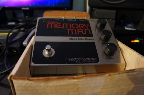 Pedal Electro Harmonix Stereo Memory Man vintage
