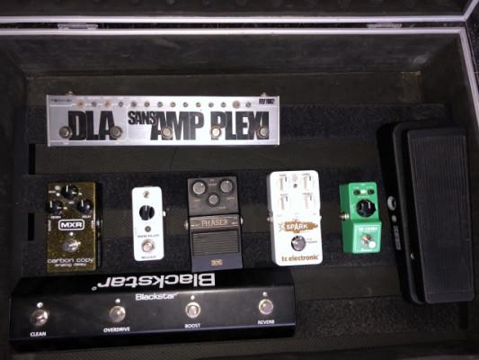 Pedales y pedalboard Crybaby, mxr, rockboard