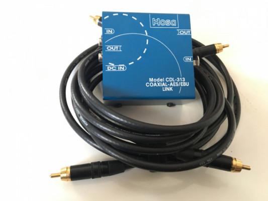 conversor AES/EBU a SPDIF HOSA CDL 313