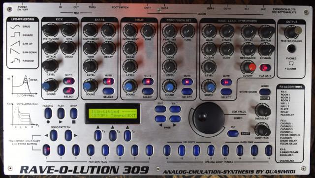 Caja de ritmos/Bassline Quasimidi Rave-o-Lution 309